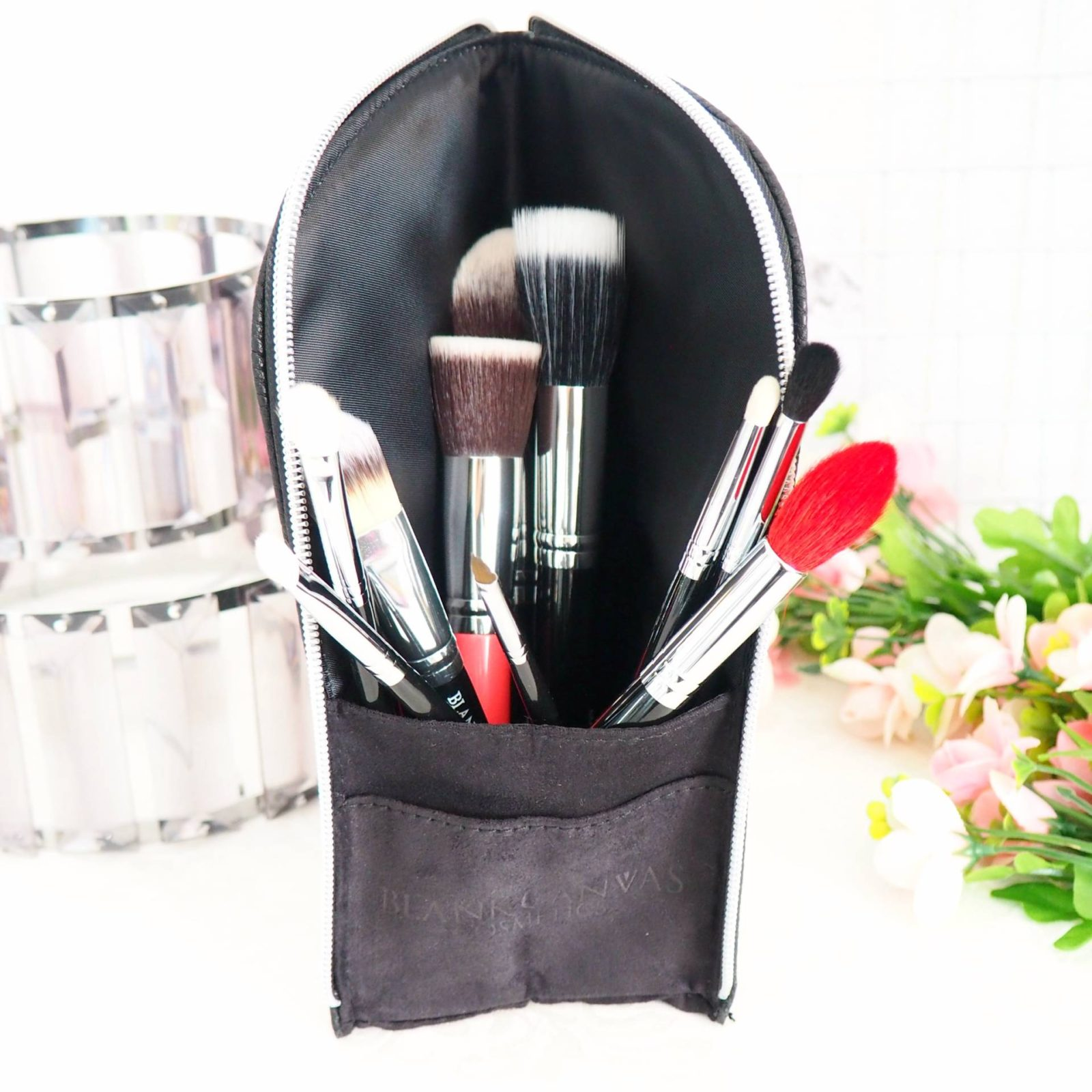 Blank Canvas Makeup Brush Pouch