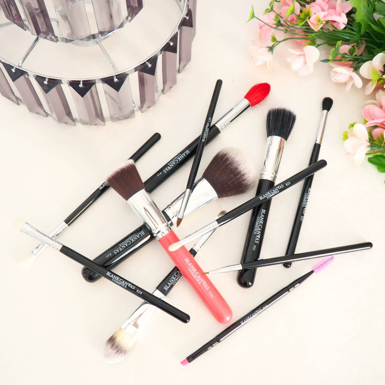 Blank Canvas Face and Eye Makeup Brush Set