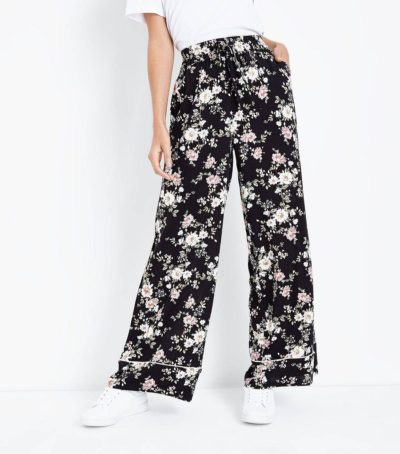 New Look Floral Print Wide Leg