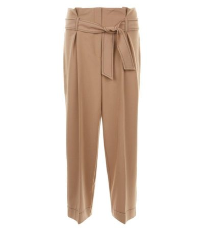 New Look Camel White Leg Trousers