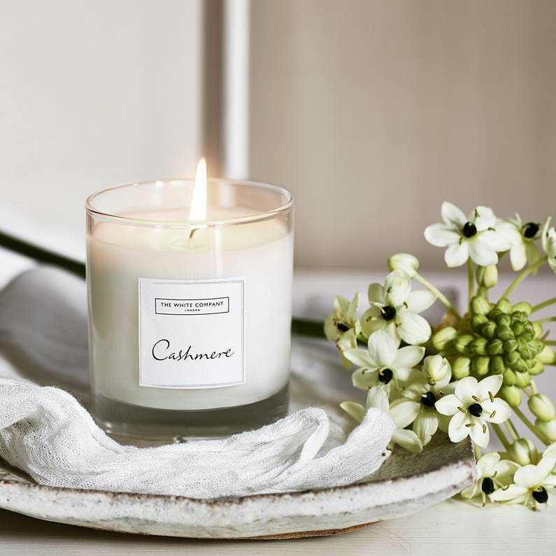 The White Company Cashmere Candle
