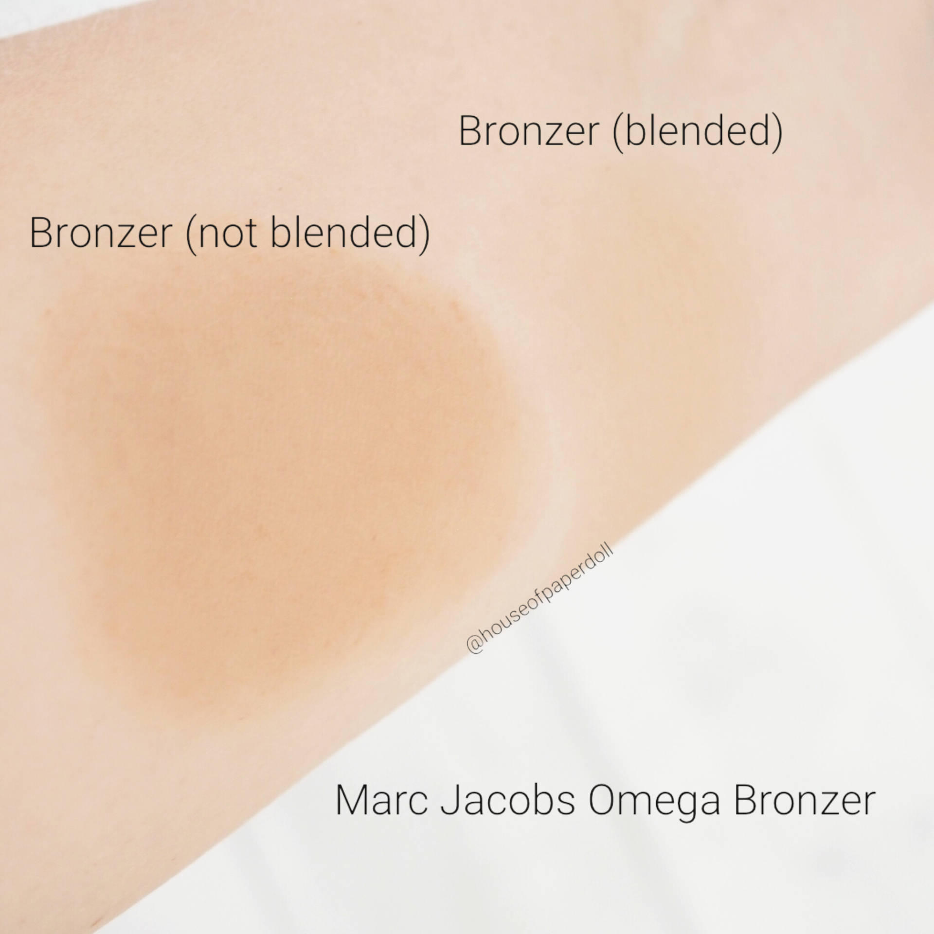 Marc Jacobs Omega Bronzer Swatches